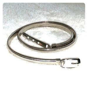 ❤️Shiny Silver Slinky Belt